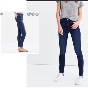 Madewell 24 skinny skinny crop blue jeans. Comfy